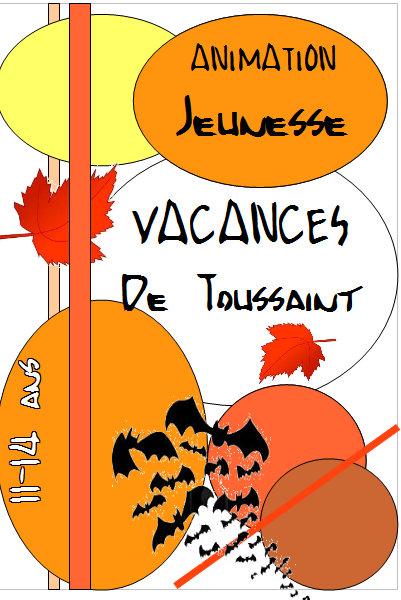 Le programme des vacances de la Toussaint pour  l'animation jeunesse!
