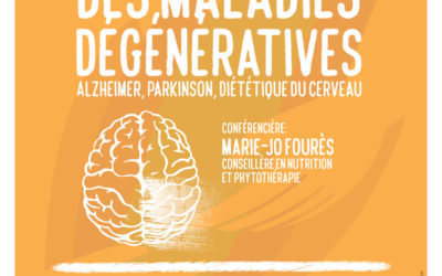 Conférence sur la prévention des maladies dégénératives le jeudi 5 novembre au Champ de Foire