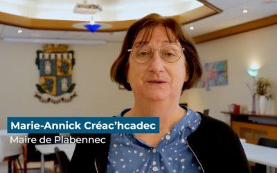 Les vœux en vidéo de Marie-Annick Créac'hcadec, Maire de Plabennec, pour 2021